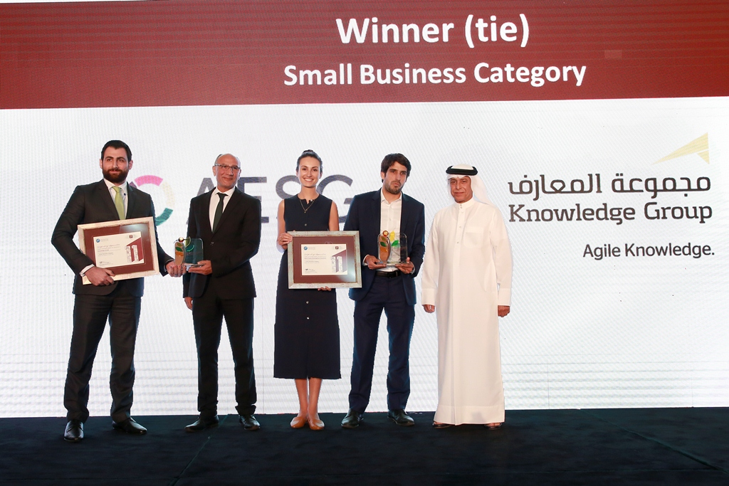 Small Business (Winner TIE) -AESG & Knowledge Group